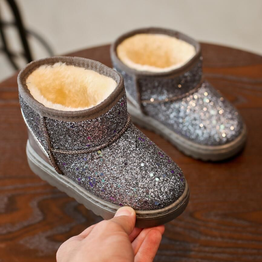 Winter Fashion Child Girls Boys Snow Boots Shoes Warm Plush Soft Bottom Baby Girls Boots Leather Winter Snow Bo Baby Girl Boots Boys Snow Boots Childrens Shoes