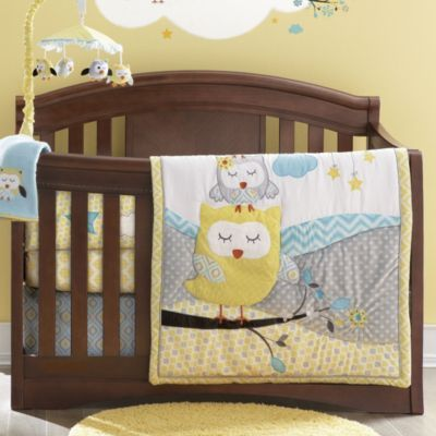 Baby S First By Nemcor Nap Time Owls 6 Piece Crib Set Sears