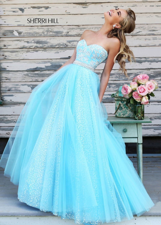 Sherri Hill 11186 Strapless Sequin Gown | \