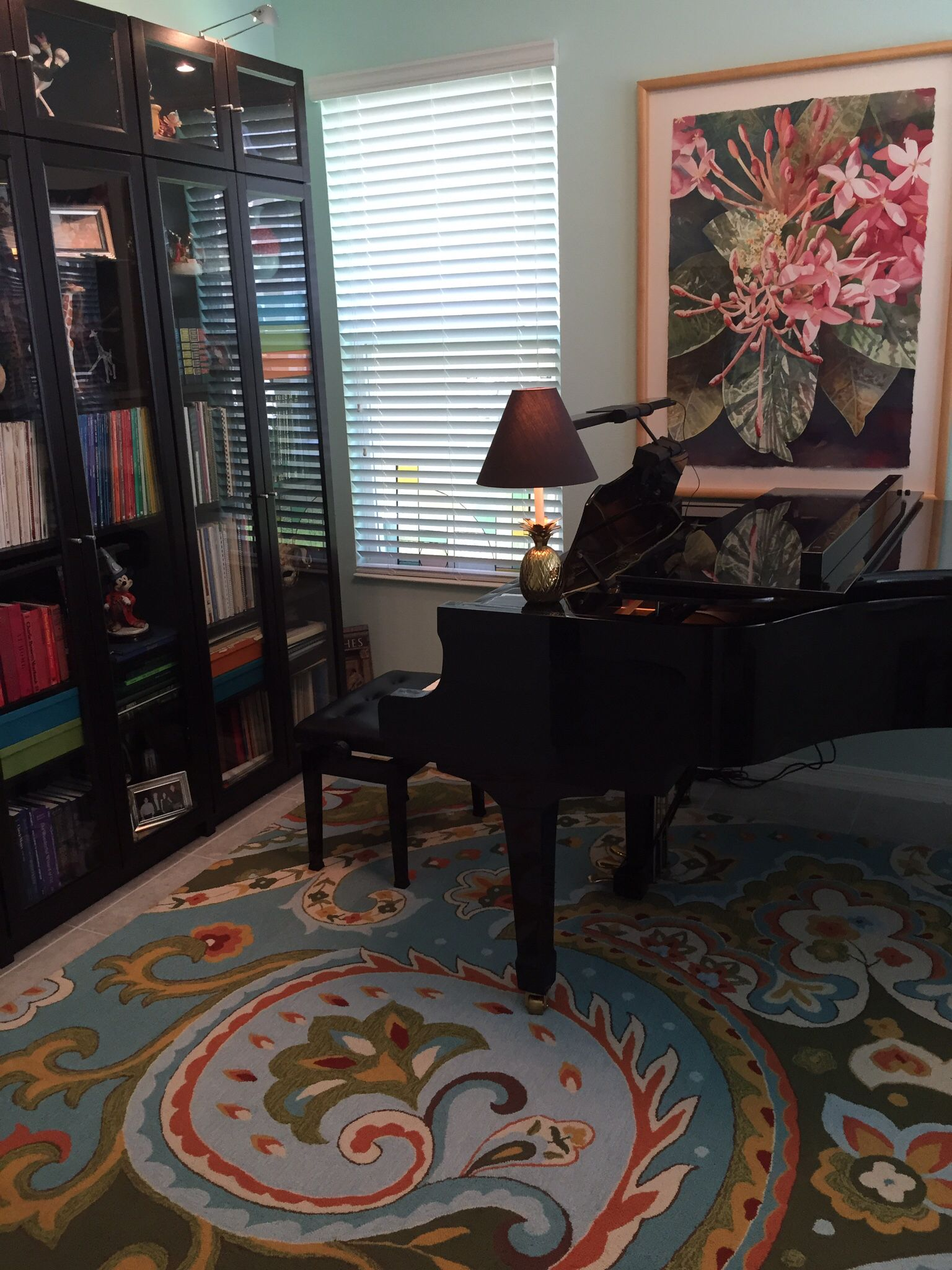 The front parlor with piano.