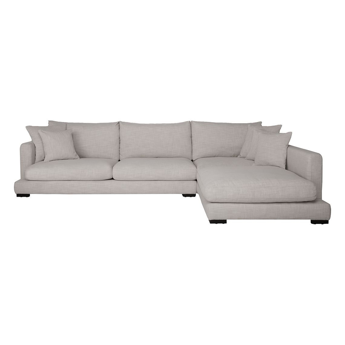 Freedom Furniture Lounges Hamilton 3 Seat Fabric Modular Sofa With Right Terminal Steel Grey