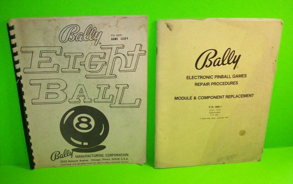 buying cheap lace up in buy good Eight Ball ORIGINAL Bally Pinball Machine Game Manual + ...