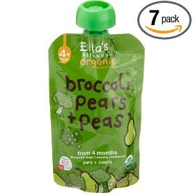 Ella's Kitchen Organic Baby Food Broccoli, Pears + Peas (4+months), 3.5-Ounce Pouches (Pack of 7)
