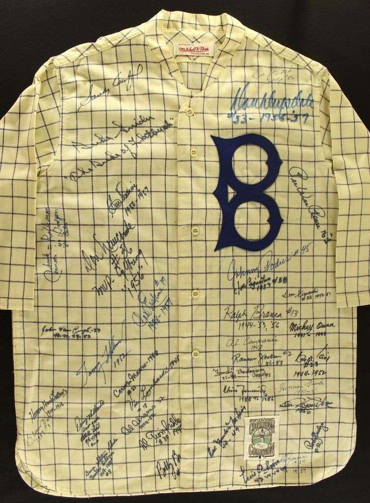 Dodgers Authentic Mitchell   Ness Throwback Jersey Signed by (36) Legends  with Sandy Koufax aa5ff7d4316