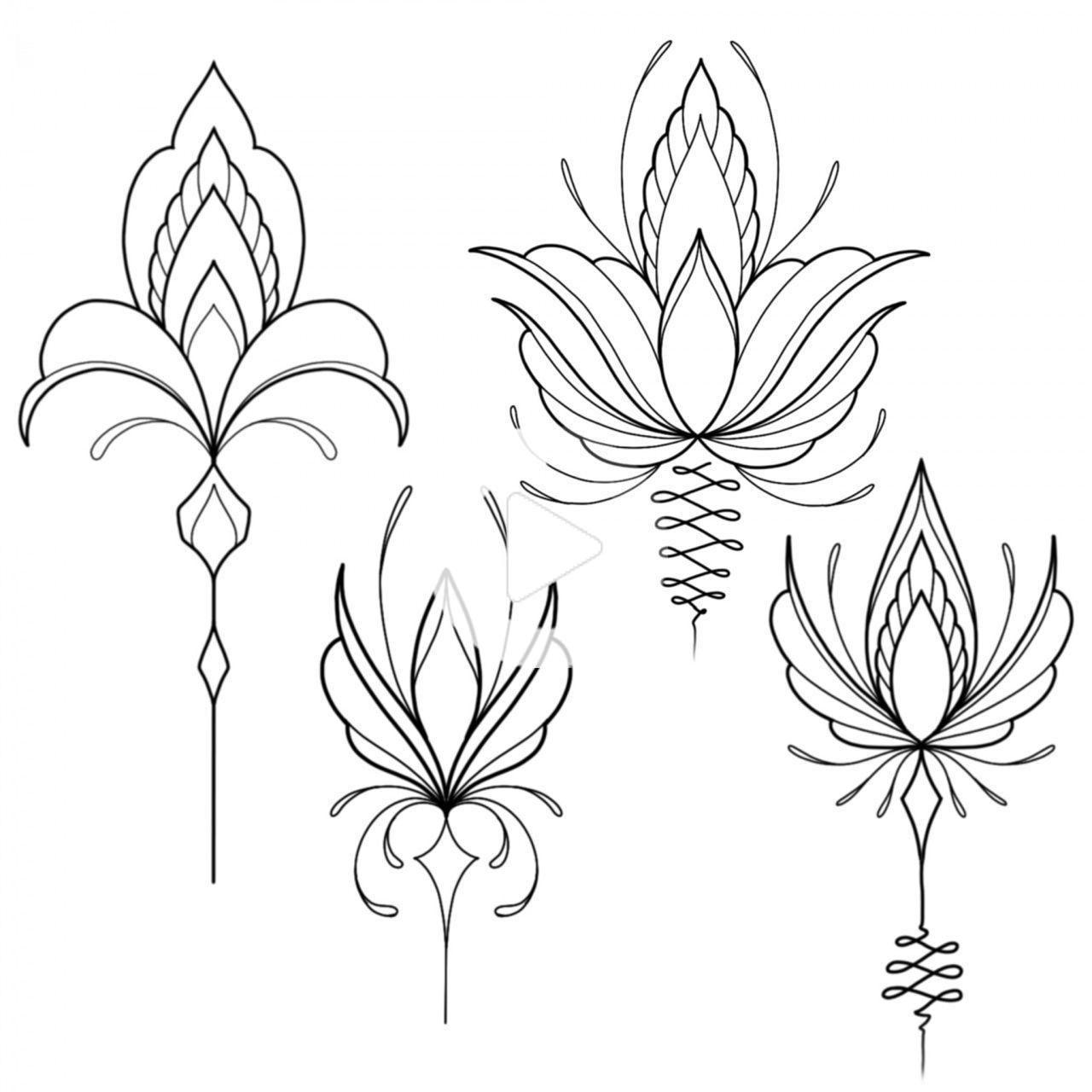 Ornamental tattoo on sketch (on paper) by Kolya Gagarin in 2020   Tatt