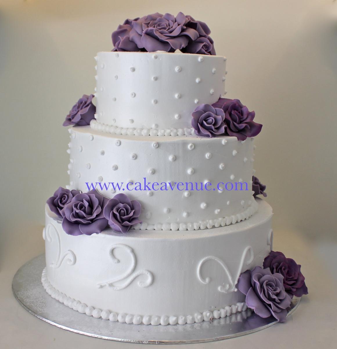 Purrrrrpleee party pinterest fresh cream icing wedding cake