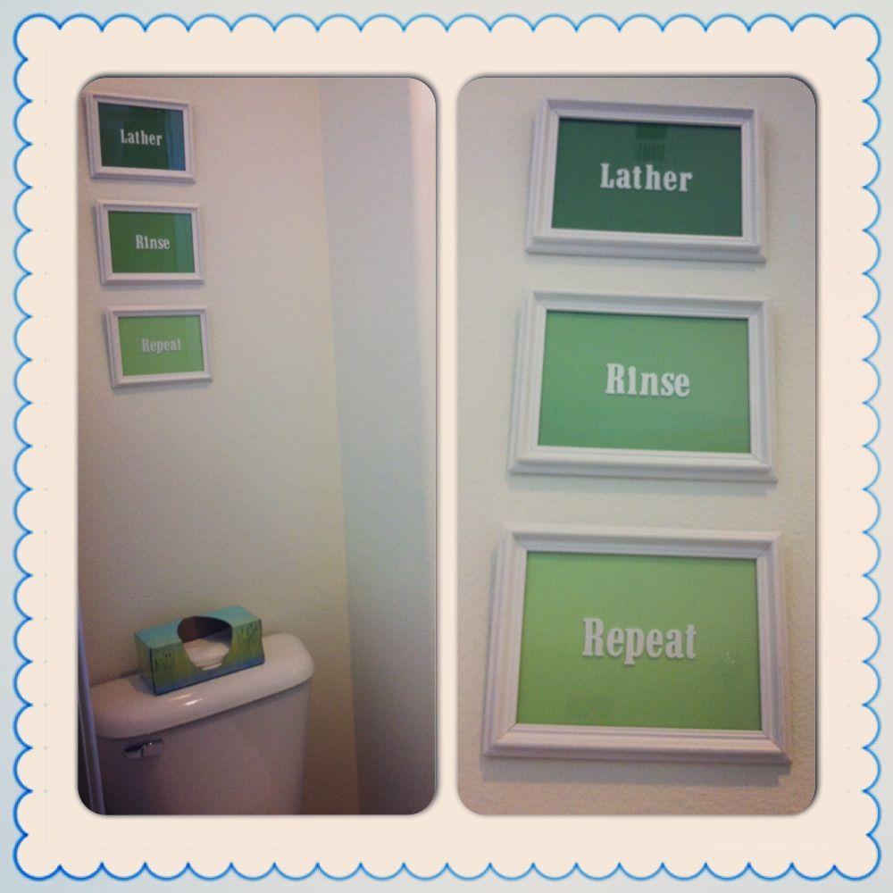 DIY Ombré Bathroom Decor - Lather, Rinse, Repeat! White 5 ...