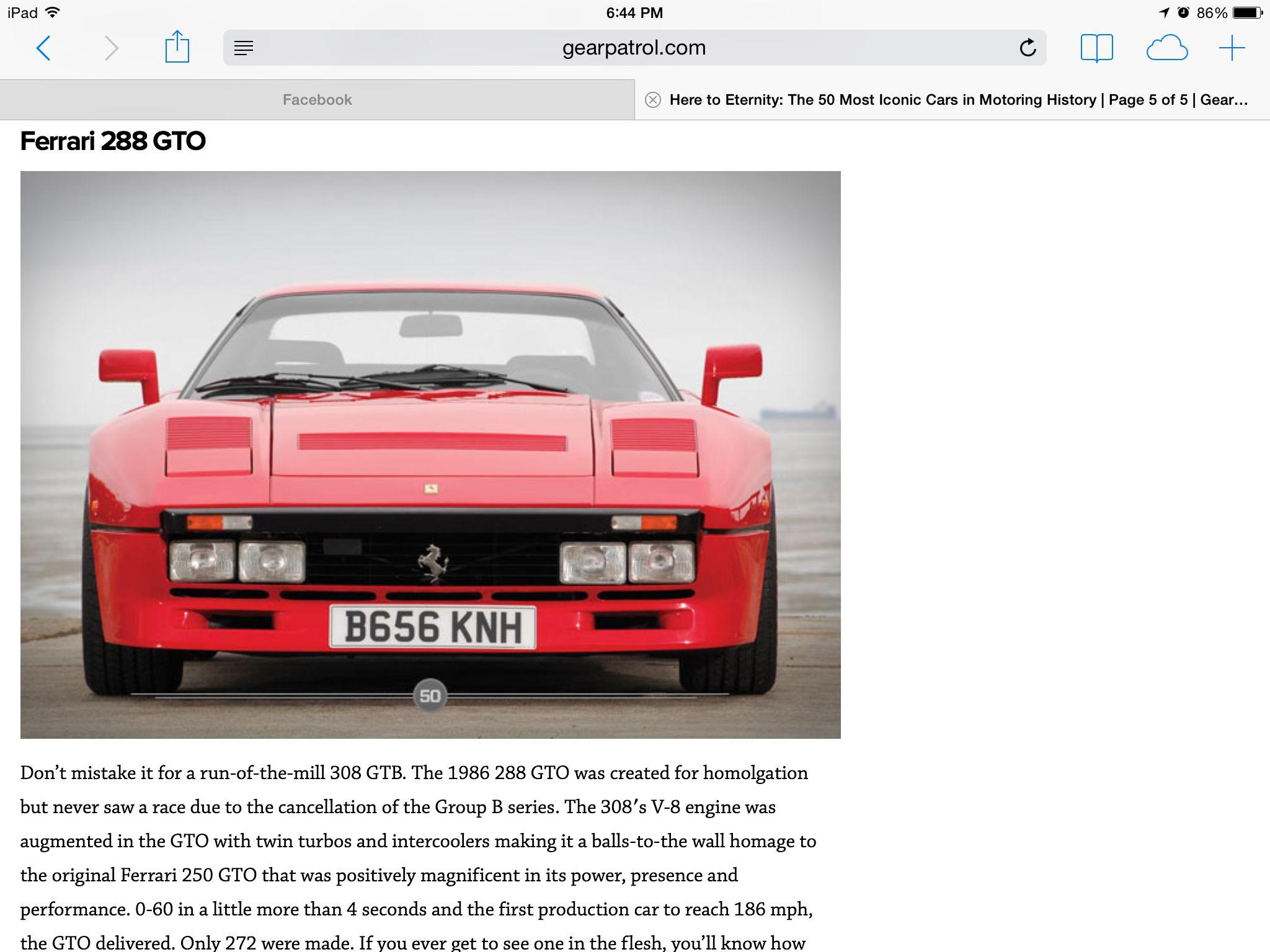 pin by j rott on international icons top 50 ferrari 288 gto ferrari classic car show pinterest