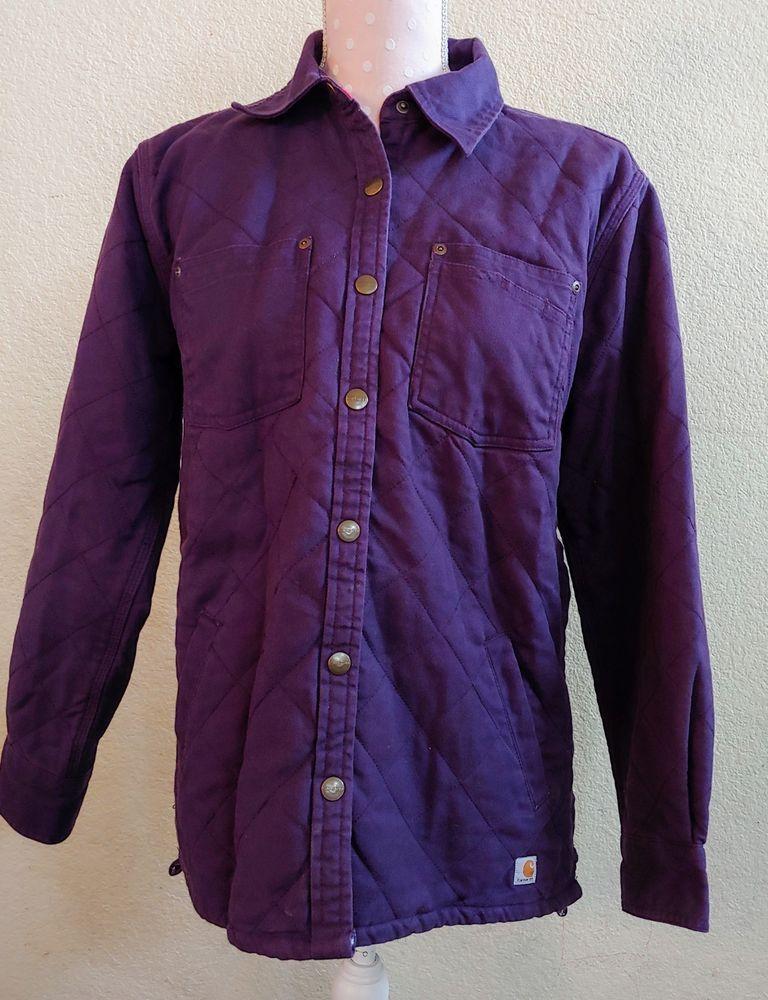 Womens Purple Carhartt Barn Jacket Coat Outerwear Cotton Classic