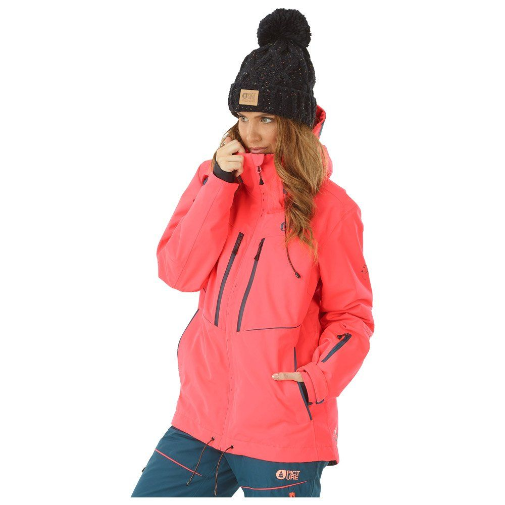 75d2718c Ski Jacket Picture Exa Neon Coral 2018 | Snow | Jackets, Rain jacket ...