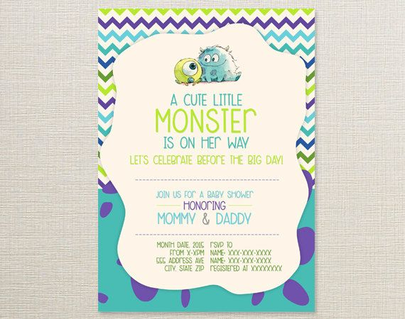 Fiesta Ideas Invitaciones Baby Shower.Monsters Inc Monsters Inc Baby Shower Invitations Baby