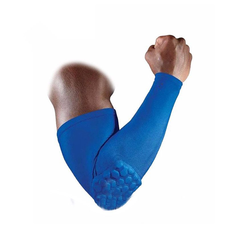2 pc/set Basketball Honeycomb Arm Eblow Pads Anti-collision Lengthen Armguards Sports Compression Arm Sleeve 5 Colors M/L/XL