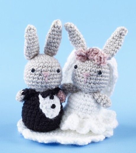 Amigurumi Bunny Wedding Cake Topper (Crochet)   Crochet Wedding ...