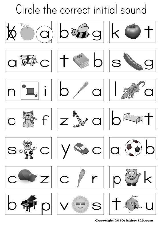 Alphabet & Phonics Worksheets: | worksheets | Phonics worksheets ...