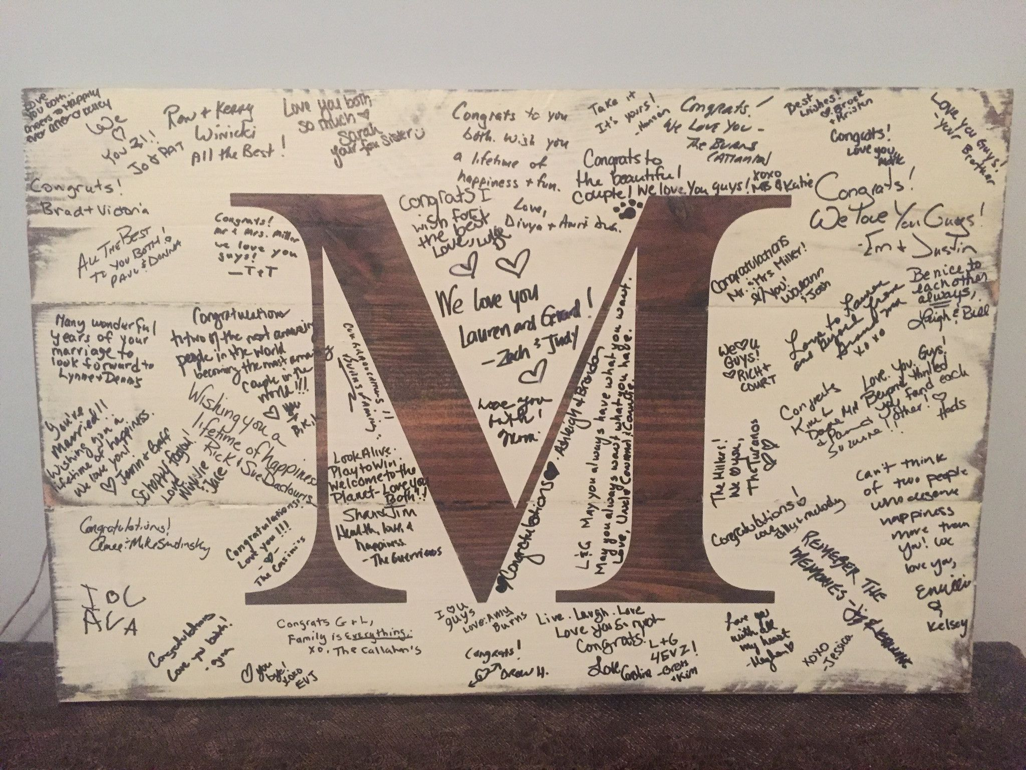 I Am So Excited To Introduce This Wedding Guest Book Alternative Initial Sign With