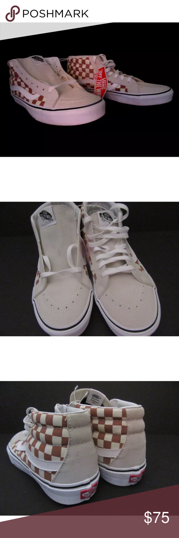 1717438a6f06 New Vans SK8 Mid Reissue Checker Auburn Brand new with box Size 9.5 men s 11