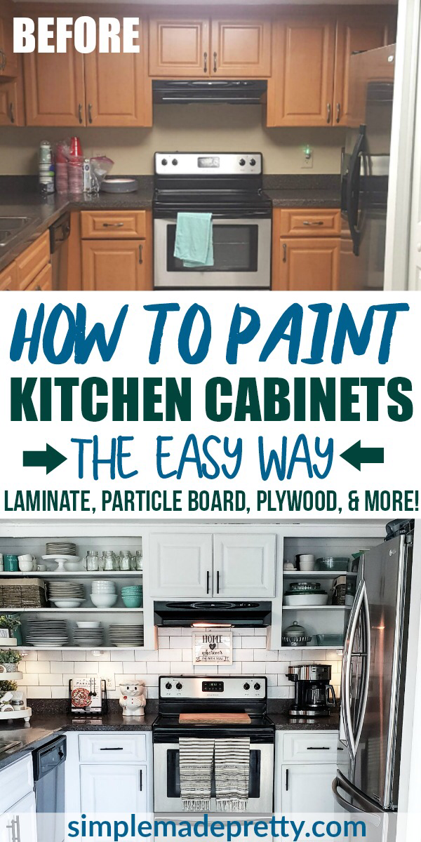How To Paint Kitchen Cabinets White Without Sanding Painting Kitchen Cabinets White Painting Kitchen Cabinets Kitchen Cabinets Before And After