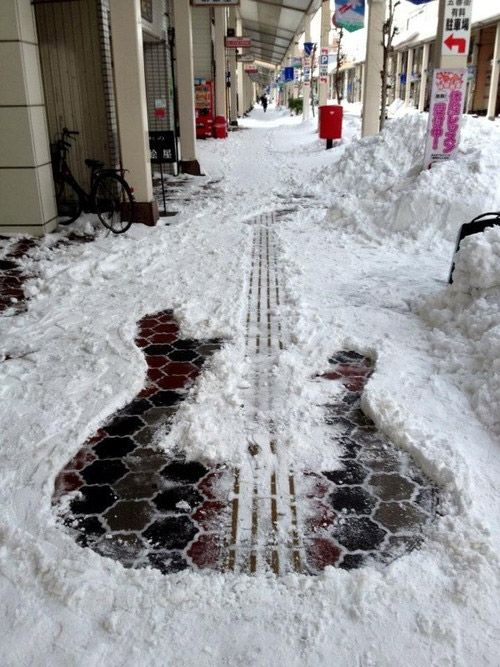 Street Art im Schnee