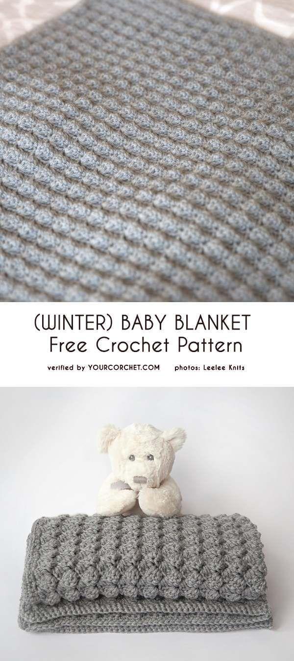Photo of (Winter) Baby Blanket Patrón de ganchillo gratis #babyblanket Si buscas un …