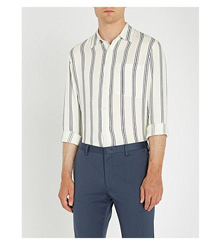 ef3f3903 SANDRO Striped woven shirt. #sandro #cloth # Tailored Trousers, Sandro, Mens