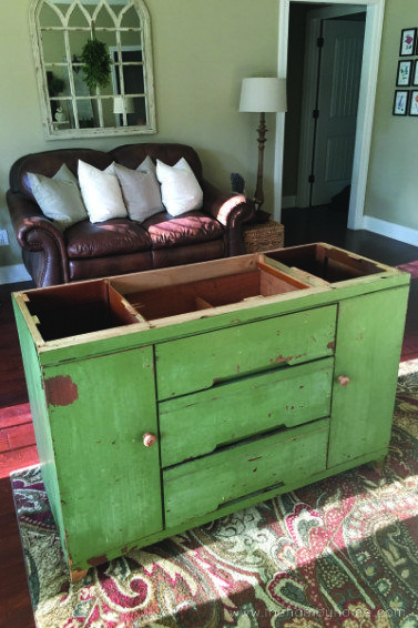 Green Estate Sale Cabinet Makeover
