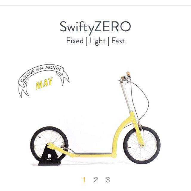 Drum roll please! #colourofthemonth for May is a fresh spring yellow! Ride and roll! by swiftyscooters