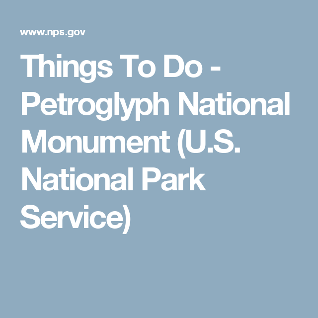 Things To Do - Petroglyph National Monument (U.S. National Park Service)