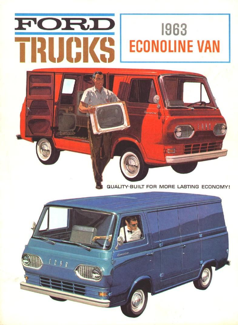 1963 Ford Econoline Van Brochure 01 Ford Trucks Cars Pickup Trucks