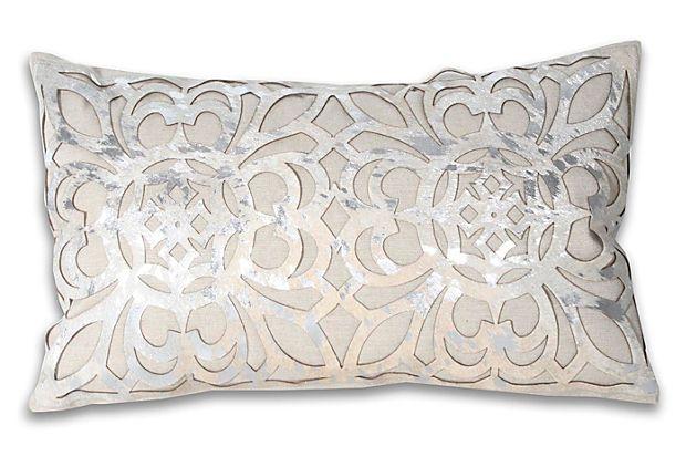 Best Thro Marta 12X20 Pillow Silver Ivory Pillows Throw 400 x 300
