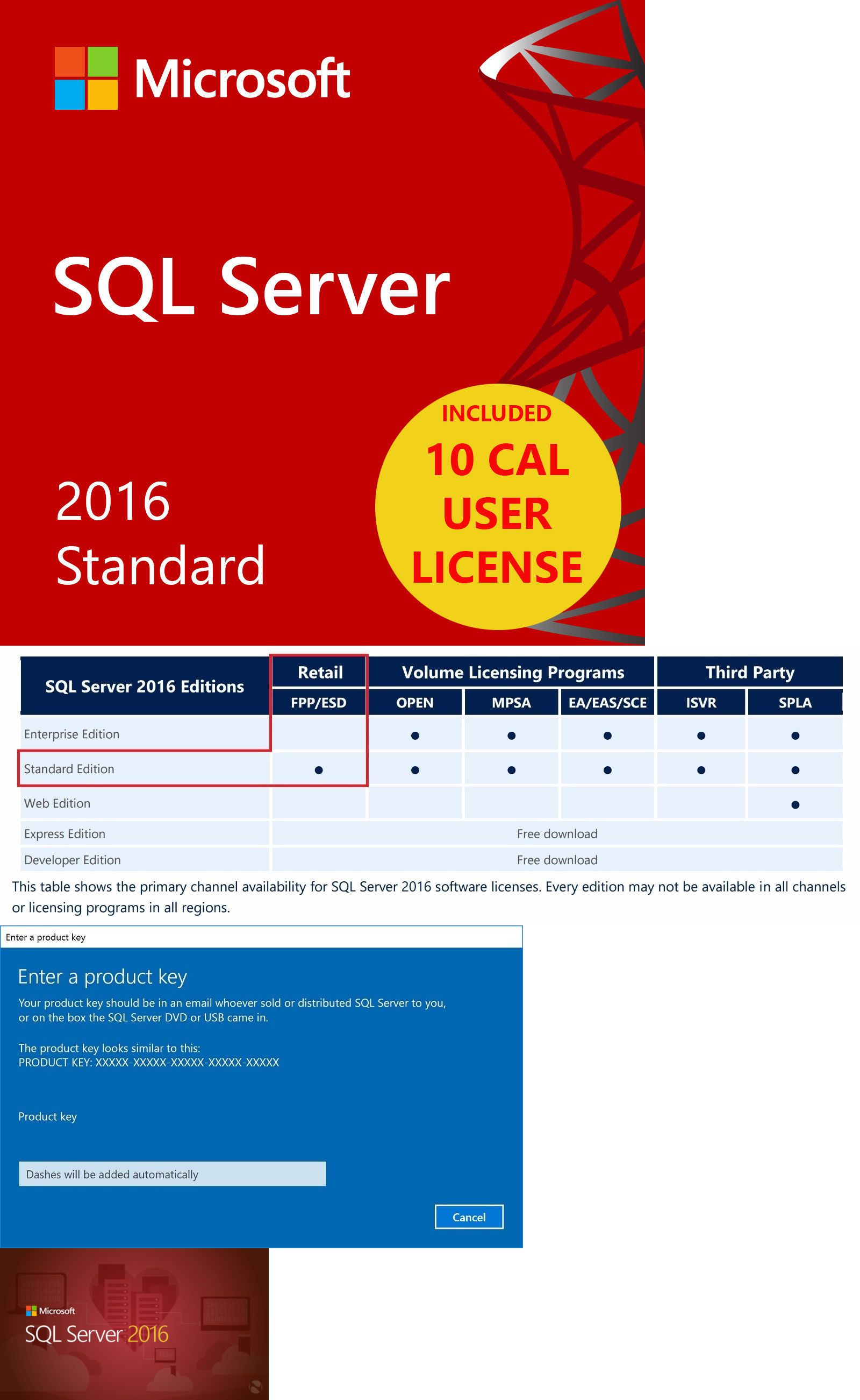 sql server 2016 product key enterprise