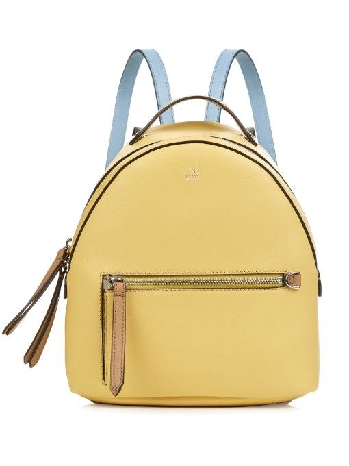 FENDI By The Way Leather Mini Backpack.  fendi  bags  leather  lining   canvas  backpacks  metallic d0402759400d5