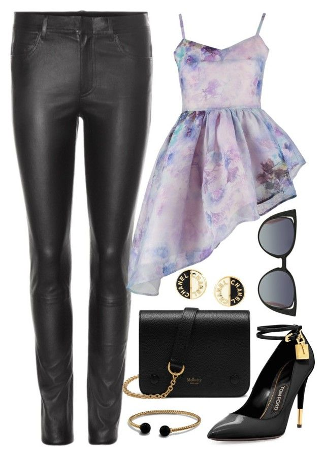 Purple & Black Leather by carolineas on Polyvore featuring polyvore, fashion, style, By Sun, Helmut Lang, Tom Ford, Mulberry, David Yurman, Chanel, Fendi and clothing