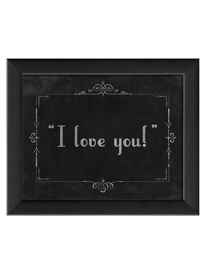 Silent Movie I Love You by Artwork Enclosed at Gilt