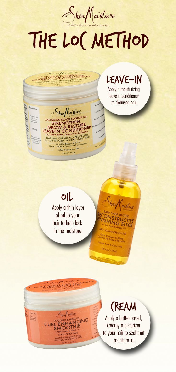 Using #SheaMoisture for the LOC method. | How Do It Info