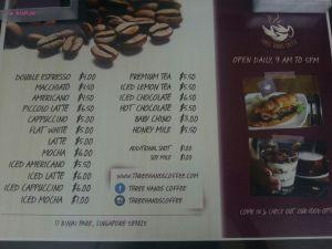Three Hands Coffee At Binjai Park Moved Coffee Menu Three Hands Coffee
