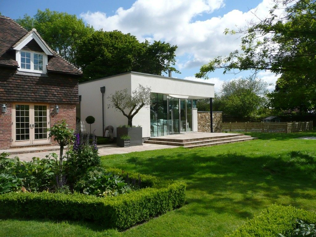 Very modern extension listed building