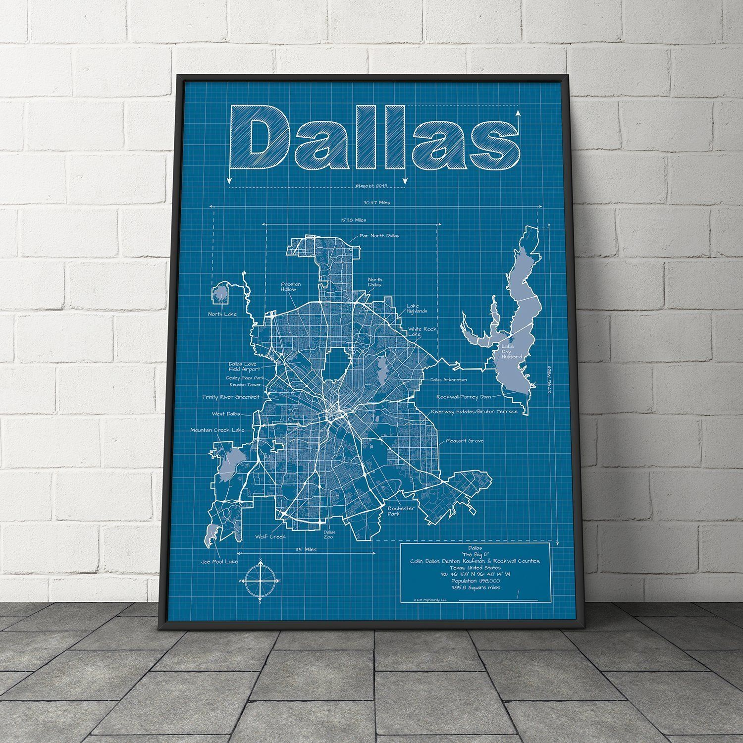 Dallas texas map blueprint style modern graphic design and dallas texas map blueprint style modern graphic design and traditional blueprint style come malvernweather Choice Image