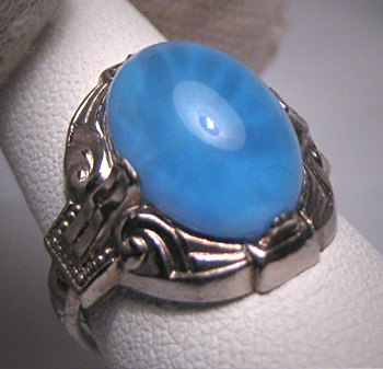 Antique Star Sapphire Ring Vintage Art Deco 1920.  Purchase Now at Aawsomblei Antique Jewelry.