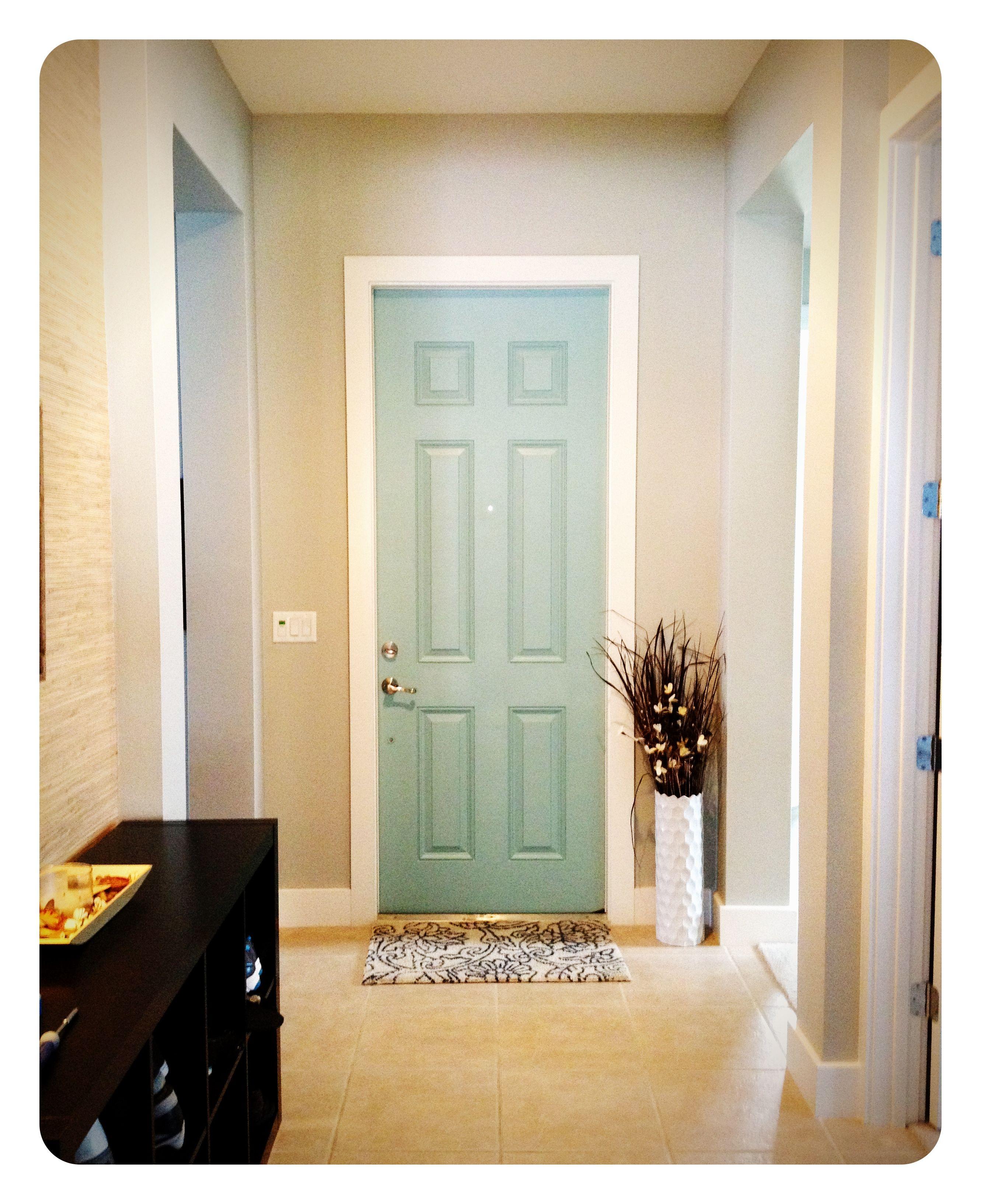 Painted Interior Front Door Behr Swan Sea Behr Paint