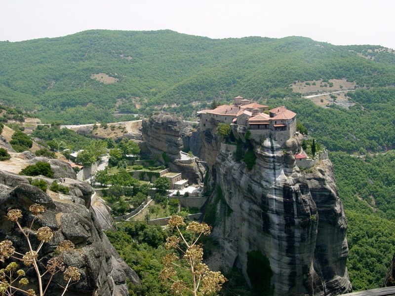 Meteora, Greece: One of the coolest looking landscapes I've ever seen.
