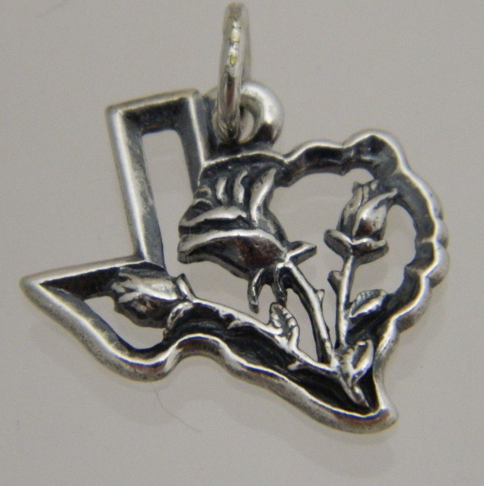 James Avery Sterling Silver 925 Retired Rose Of Texas
