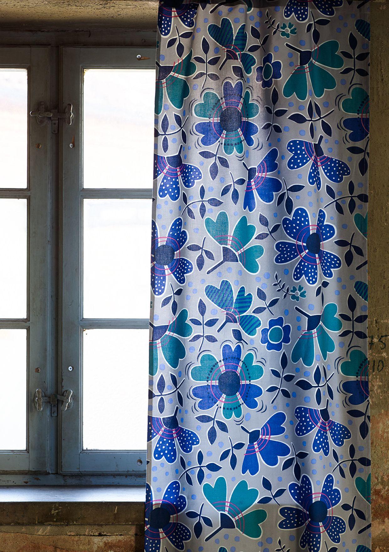 Rosenkrage Panel Blind In Eco Cotton Curtains Gudrun Sjoden