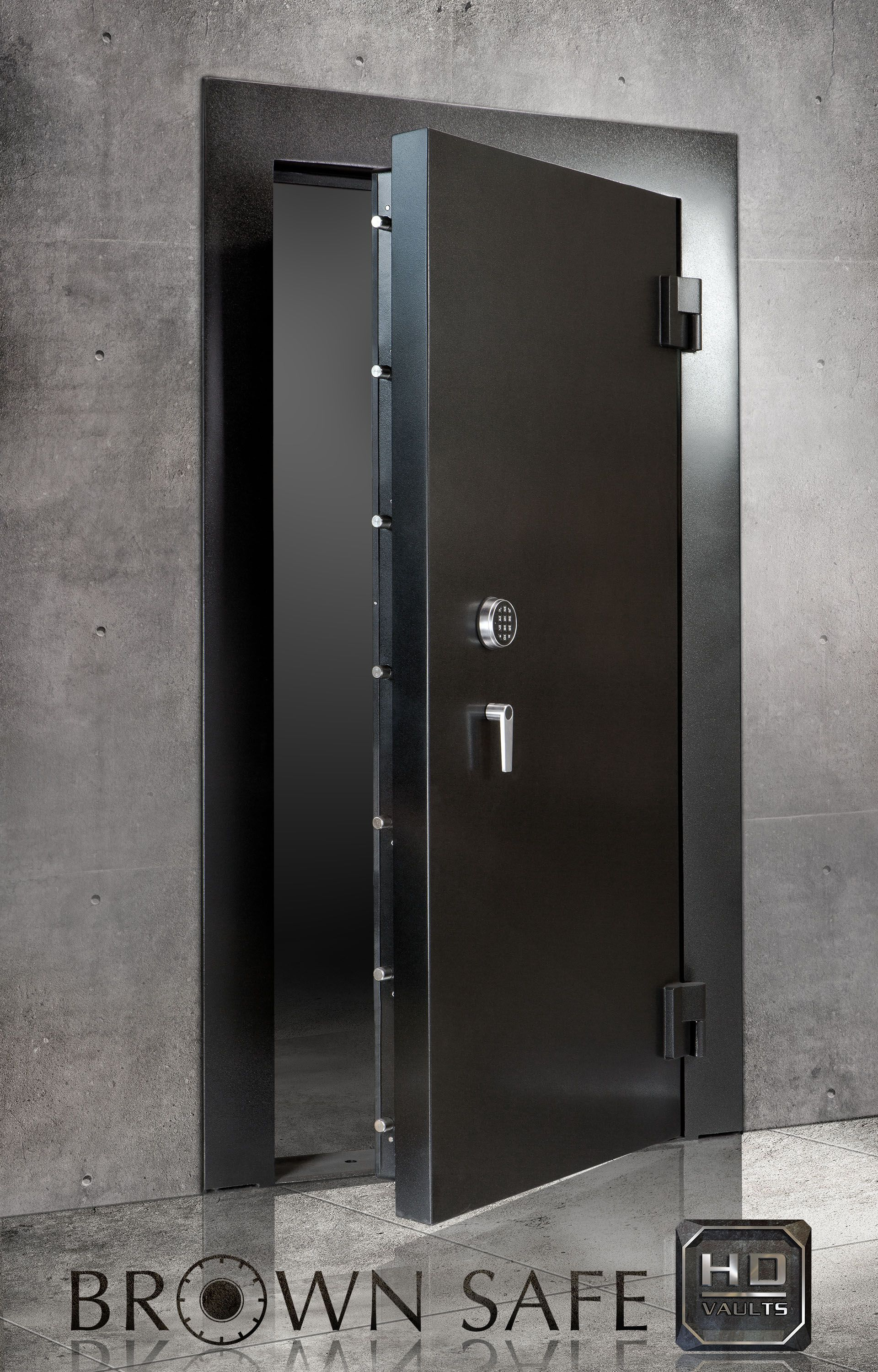 The brown safe vault doors is a premium protection high for Safe room builders