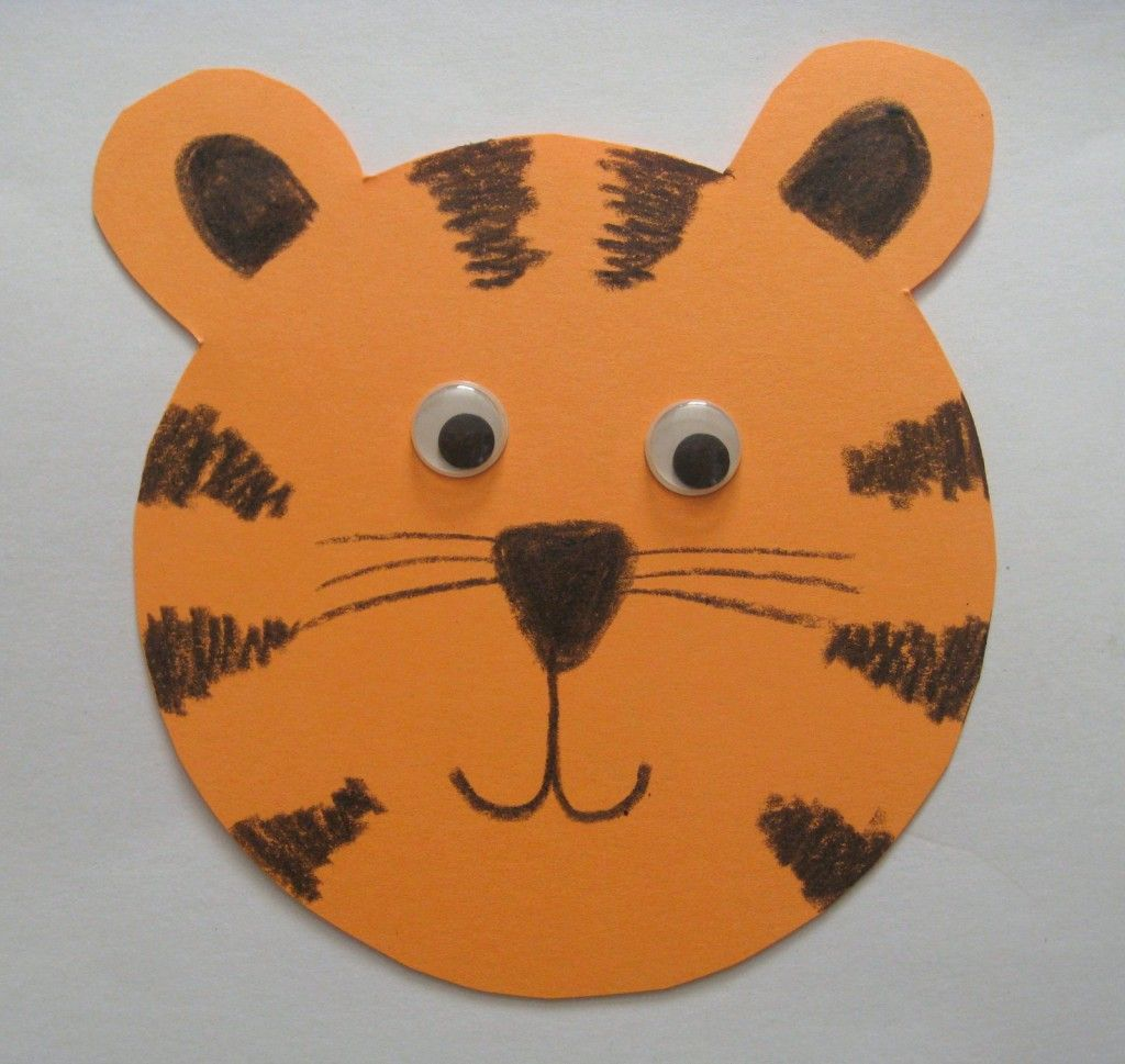 tiger art projects for kids cute but ads cover most of page