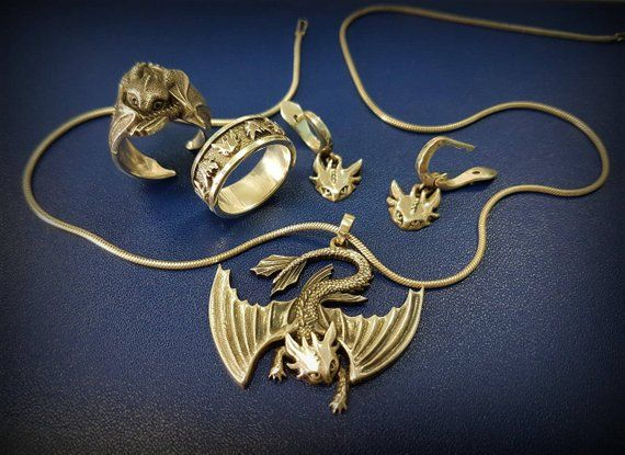 How To Train Your Dragon Toothless Jewelry Silver Dragon Jewelry