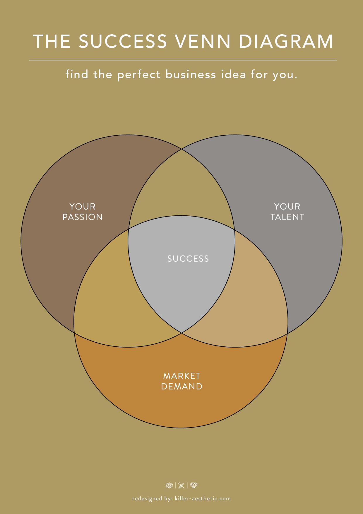 The success venn diagram designed by killer aesthetic graphics the success venn diagram pooptronica