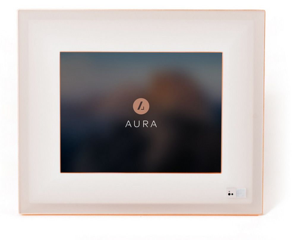 New - The Aura Frame Digital Smart Picture Frame - Rose Gold Trim