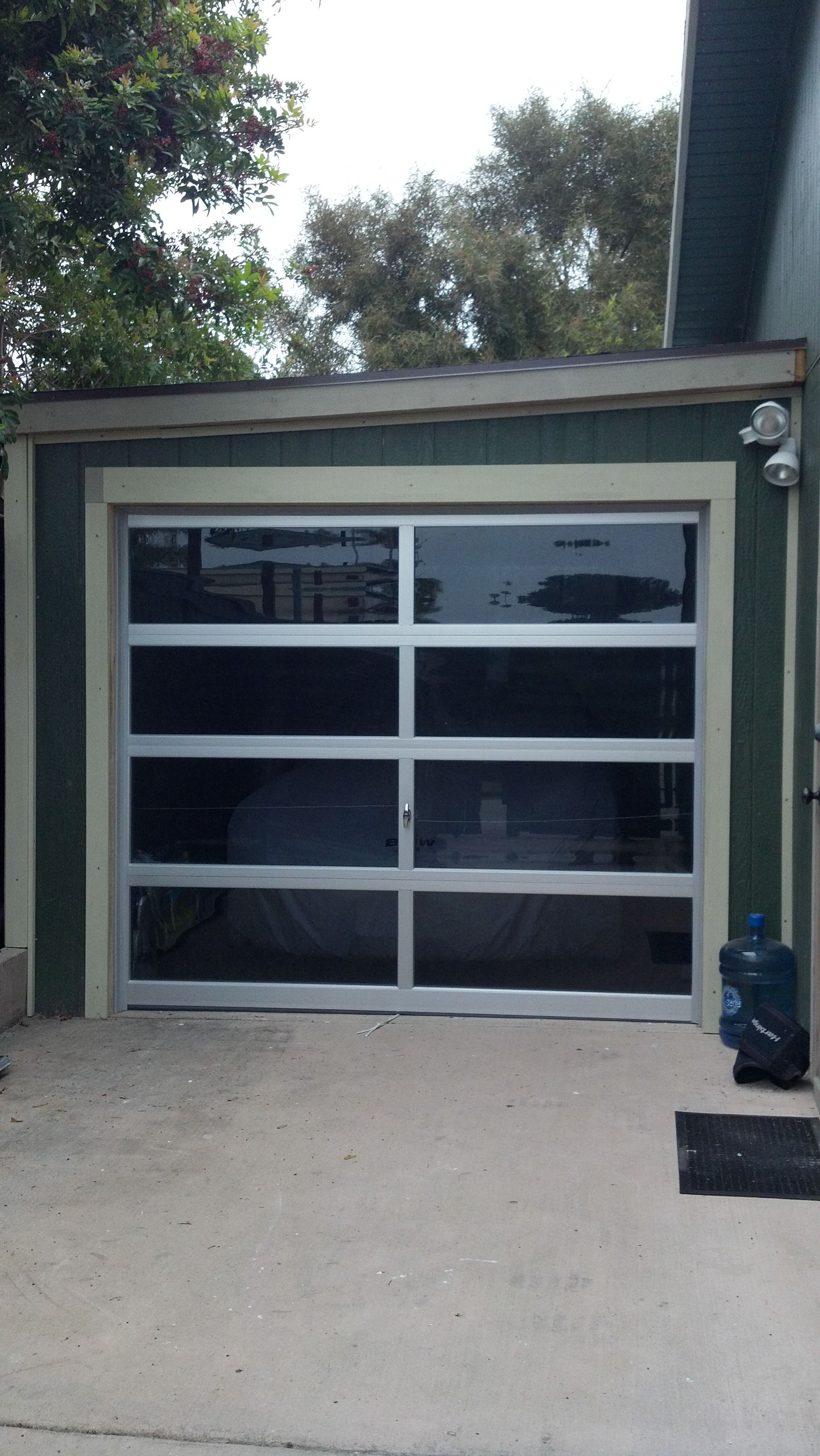 GARAGE DOORs WITH ANODIZED ALUMINUM FRAME U0026 TINTED GLASS PANELS INSTALLED  BY #Lagunas Garage Door