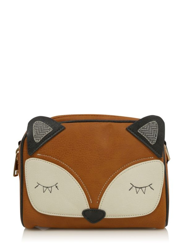 Toddler fox bag  Leather crossbody purse   Childs phone case