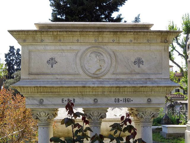 Elizabeth Barrett Browning's tomb, 1861, English Cemetery, Piazzale Donatello, Florence